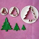 3ks vánoční strom modely pěchovadlo fondán dort