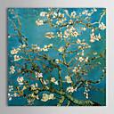手描き ヴァン・ゴッホ花咲くアーモンドの枝 c.1890 油絵 中枠付き HB-916