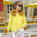 yalun®new módní dámské mýval kožešiny límec zhubnout bunda
