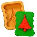 vánoční strom fondant dort čokoládový Silikonová forma dort dekorace nástroje, l8.3 * w6.8 * h3cm
