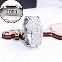 personalizirani poklon prsten od nehrđajućeg čelika urezani nakit