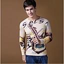 Print Muška Majica s rukavima Ležerne prilike,Pamuk / Elastika / Pletivo Dugih rukava-Više boja