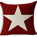 bijela zvijezda crvenog pamuka / lana dekorativne jastučnicu