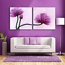 e-HOME® plátně umění fialovými květy dekorativní malba sadu 2