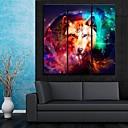 e-HOME® plátně jsi ten nádherný barevný vlčí dekorativní malba sadu 3