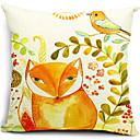 lisica i ptica pamuka / lana dekorativne jastučnicu