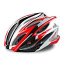 23通気口fjqxz + PC EPSは、一体成形されたサイクリングヘルメット(58〜63センチメートルを)RED