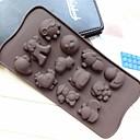 海バオ形状ケーキ型アイスゼリーチョコレートモールド、シリコーン21.2×10.5×1.5センチメートル(8.3×4.1×0.7インチ)