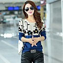Women's Korean Sun Flower Round Collar Fit Pullover Knitwear Kintted Sweater