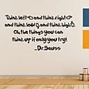 壁画PVCウォールステッカーを引用dr.seussウォールステッカーウォールステッカー、家の装飾