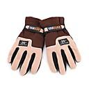 スキー手袋 フルフィンガー / ウインター 男性用 スポーツグローブ 保温 サイクリング / スキー ウール サイクルグローブ / スキーグローブ 冬 ブラウン
