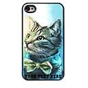 パーソナライズされた携帯電話のケース -  iPhone 4 / 4Sのための素敵な猫のデザインの金属ケース