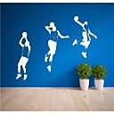 samolepky na zeď na stěnu, moderní Basketbaloví hráči PVC nástěnné samolepky (4)