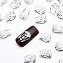 50pcs srebro nail art legure slice nakit metalik lak Jewellry pastuh za jednostavno noktiju dizajn