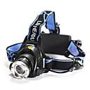 照明 ヘッドランプ LED 1200 ルーメン 3 モード Cree XM-L T6 18650 焦点調整可 / 防水 / 充電式 / 耐衝撃性キャンプ/ハイキング/ケイビング / 日常使用 / ダイビング/ボーティング / 警察/軍隊 / サイクリング / 狩猟 / 釣り