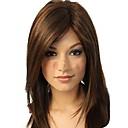 dámské přírodní fashional střední tmavě hnědé rovné vlasy, paruky