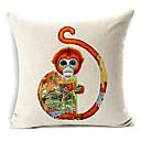 živa majmun uzorak pamuka / lana dekorativne jastučnicu