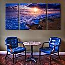 e-HOME® plátně umění na moře dekorativní malby sadu 3