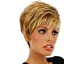 capless mix boja extra kratko visokokvalitetnih prirodnih kovrčava kosa sintetičkih perika s bočnim praskom