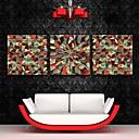 E-home® pruži platnu si apstraktnih uzoraka ukras slikarstvo set 3