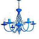 E14x5 Sky Blue Color luster Moderna Privjesak svjetlo za spavaća soba dnevni boravak