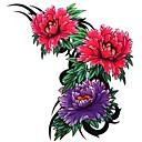 1個防水カラーフィギュア3花柄のタトゥーステッカー
