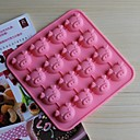 16 rupa svinja oblik glazura Jelly čokolade kalupe, silikonska 17 × 17 × 1,8 cm (6,7 × 6,7 × 0,8 cm)