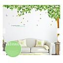 samolepky na zeď na stěnu, styl zelené stromy a lesy z PVC na zeď samolepky