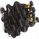 22inch přírodní černá brazilští vlasy spřádá těla vlnu