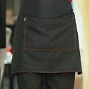 black poloviční délky kuchař zástěra