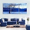 E-home® pruži platnu si rijeku mrtvih ukras slikarstva skup od 3