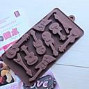10 rupa gitara oblik glazura Jelly čokolade kalupe, silikonska 15 × 14,5 × 1,5 cm (6,0 × 5,8 × 0,6 cm)