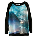 Ženska dugih rukava Galaxy digitalni tisak majica