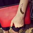 1pc vodootporan šarena Arabija zeleni fluorescentni serija broj zlatna lasta obrazac tattoo naljepnice