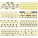 12個すべての異なるパターン長いブレスレットタトゥーステッカー(ランダムパターン)14x6センチ