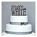 Figure za torte Personalized Tvrda plastika Vjenčanje / Godišnjica / Rođendan Crn Klasični Tema 1 PVC vrećica