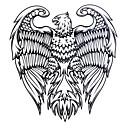 1ks Yimei tetování samolepky vodotěsný řady živočišných žen / mužů / dospělý / kluk / dospívající černá orlice 16,8 cm * 14,3 cm