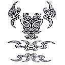 5ks Yimei tetování samolepky vodotěsný ostatní ženy / muži / dospělý / dospívající červená / černá postava totem vzor 20,5 cm * 10,5 cm