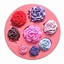 osam različitih veličina uzorka ruže cvijet čokoladni kolač plijesni