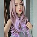 Nový Harajuku paruka prádlo barevný přechod levandule kudrnaté vlasy velké vlny