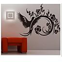 odnímatelný černý rododendron obývací pokoj / sofa pozadí na zeď samolepky