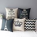Sada 5 moderní styl koruny vzorované bavlna / len dekorativní polštář krytem