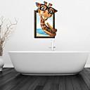 3D zidne naljepnice zidne naljepnice, čaše žirafa kupaonica dekor mural PVC zidne naljepnice