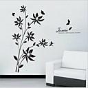 izmjenjivi romantična crni cvijet ratana dnevni boravak / kauč pozadina zidne naljepnice