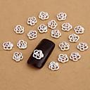 10ks stříbrné nail art šperky krásné růže aryclic nehtové tipy dekorace nail art se třpytí na nehty