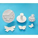 4-cの大型蝶プラスチックフォンダンケーキジャーカッター、高品質ケーキデコレーションツールセット