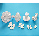 4-Cアジサイのフォンダンケーキデコレーションプランジャカッター、砂糖アートカッター、ケーキのデザインツール