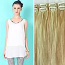 7ks / lot 22inch / 55cm 80g / balení multicolors rovnou klip v prodlužování vlasů grade5a rozšíření lidské vlasy