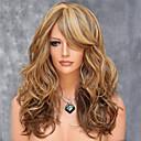 evropské a americké vysoké teploty drátu míchání barev syntetické vlasy a dlouhé vlasy paruku