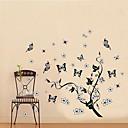 klasična crna stabla loze leteći leptir zid decal zooyoo7005 dekorativne prijenosnih PVC zidne naljepnice